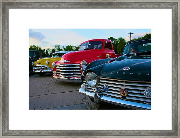 Classic Chrome Bumpers Framed Print