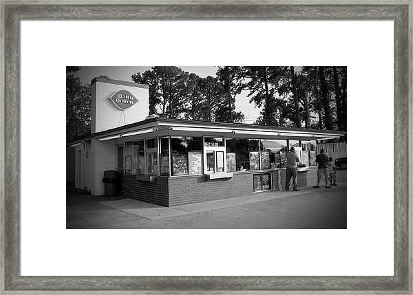 Classic Dairy Queen Framed Print