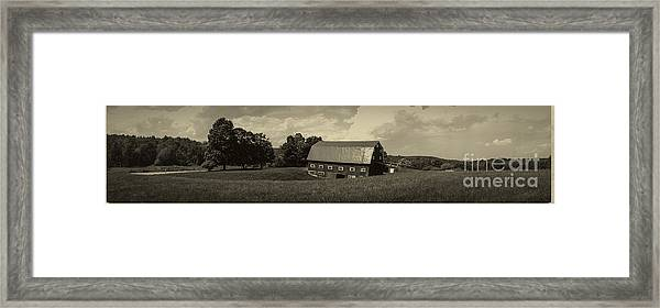 Classic New England Antique Panoramic Framed Print