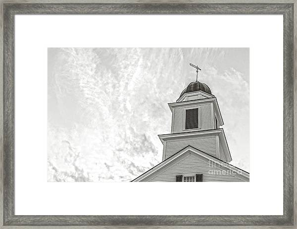 Classic New England Church Etna New Hampshire Framed Print