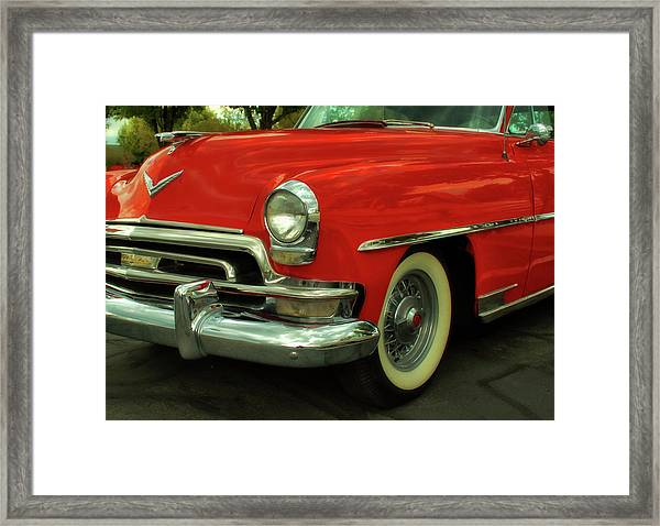Classic Red Chrysler Framed Print