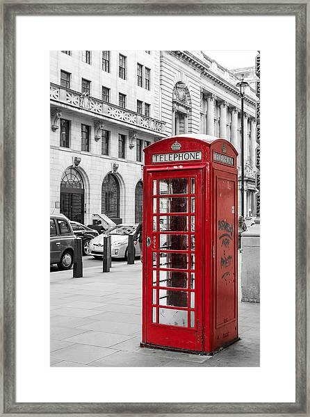 Red Telephone Box In London England Framed Print