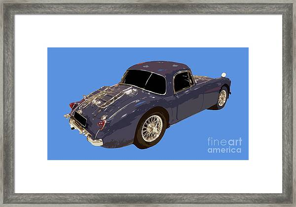 Classic Sports Blue Rear Framed Print
