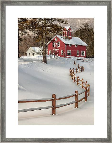 Classic Vermont Barn Framed Print