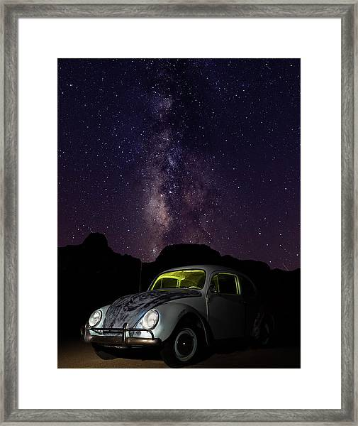Classic Vw Bug Under The Milky Way Framed Print