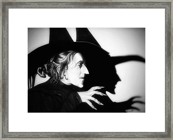 Classic Wicked Witch Of The West Framed Print