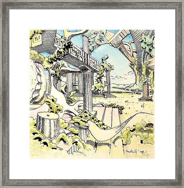 Classical Construction Framed Print