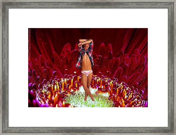 Clay Flower Fairy Framed Print