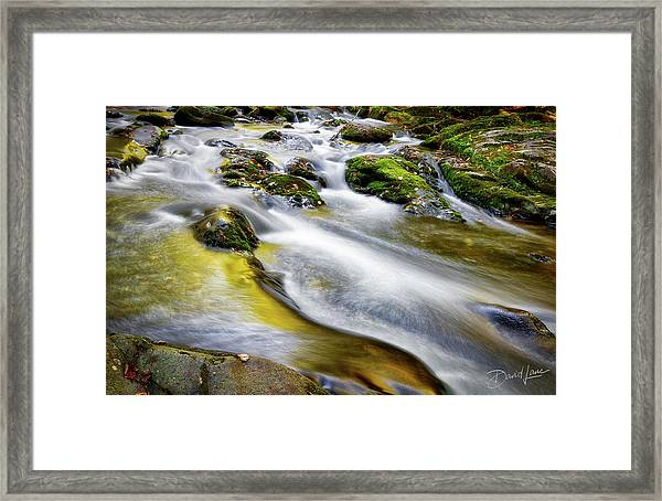Framed Print featuring the photograph Clear Mountain Water  by David A Lane
