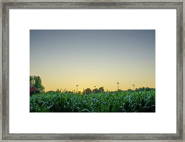 Clear Skies Sunset Framed Print