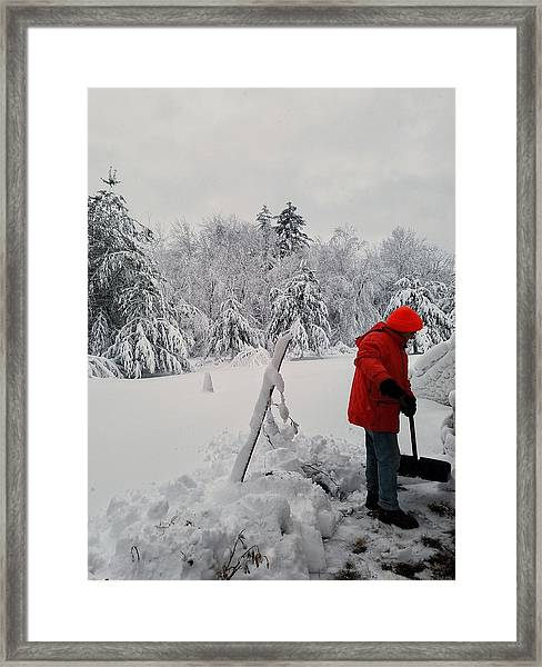 Clearing A Path Framed Print