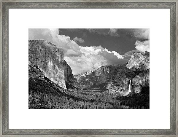 Clearing Skies Yosemite Valley Framed Print