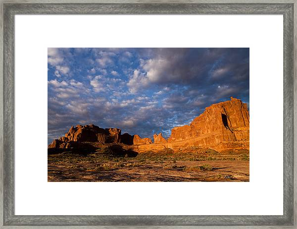 Clearing Storm At Sunrise Framed Print