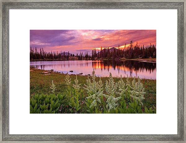Clegg Lake Framed Print