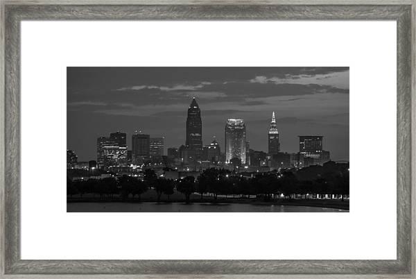 Cleveland After Dark Framed Print