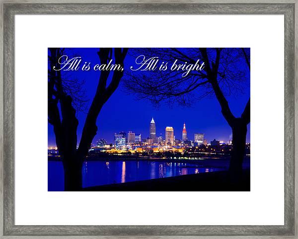 A Cleveland Christmas Framed Print