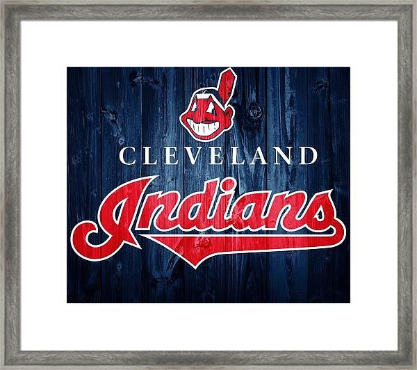 Cleveland Indians Barn Door Framed Print