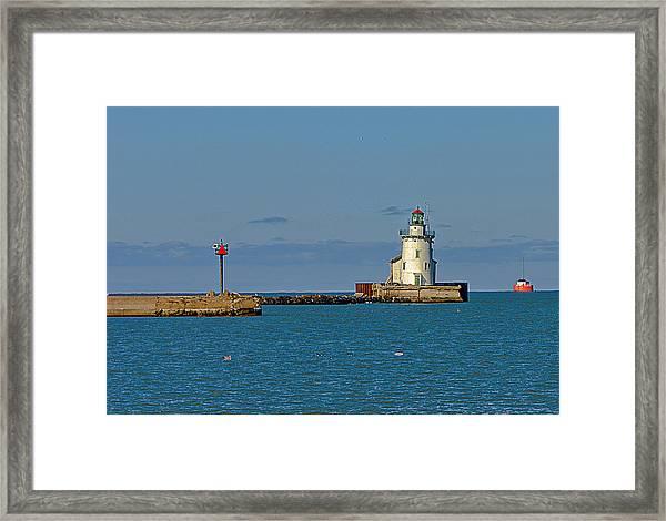 Cleveland Lighthouse Framed Print