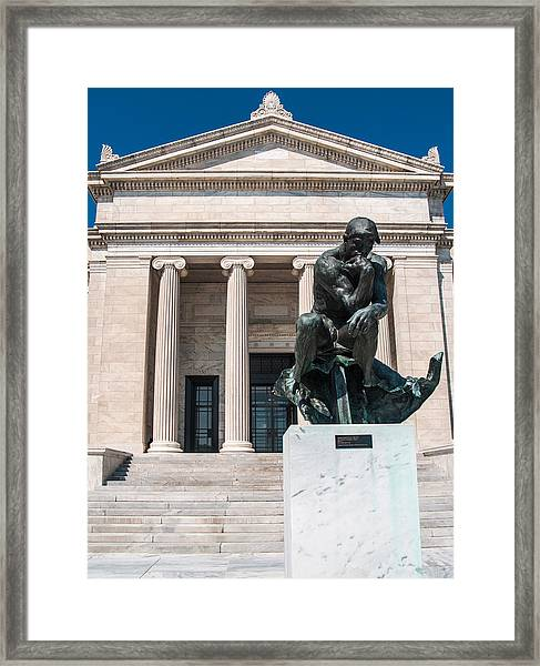 Cleveland Museum Of Art, The Thinker Framed Print