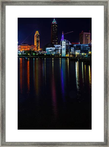 Cleveland Nightly Reflections Framed Print