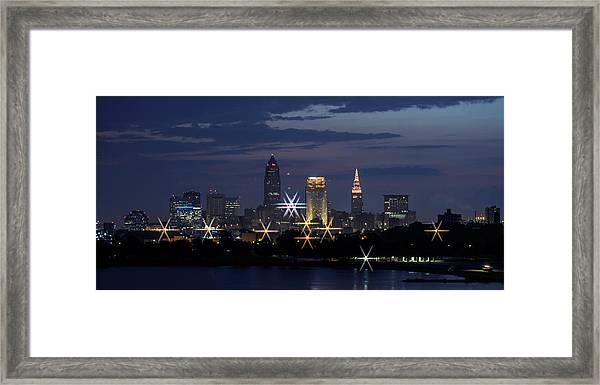 Cleveland Starbursts Framed Print