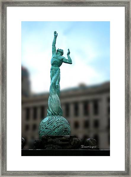 Cleveland War Memorial Fountain Framed Print