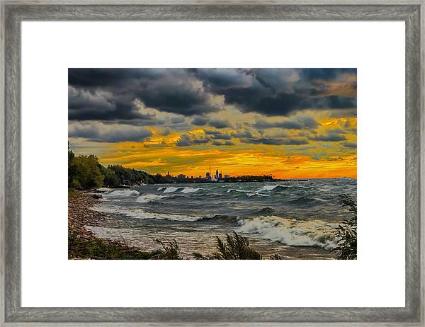 Cleveland Waves Framed Print