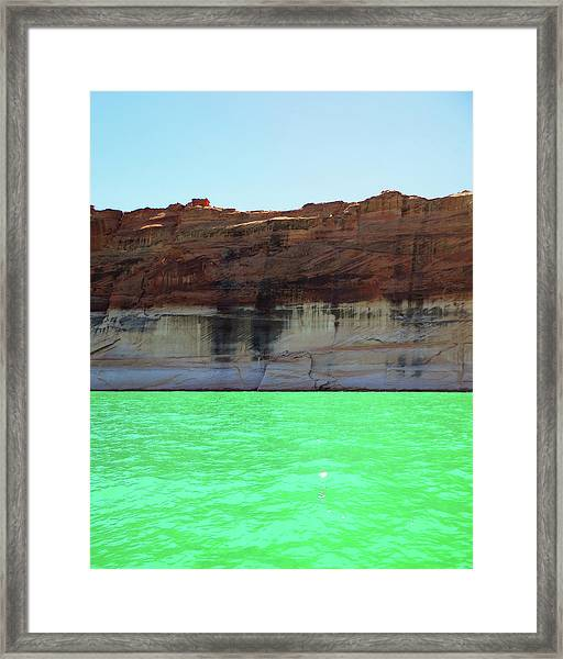 Cliff At Lake Powell Framed Print
