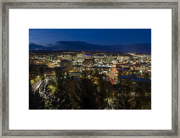 Cliff Drive Rush Hour - Spokane  Framed Print