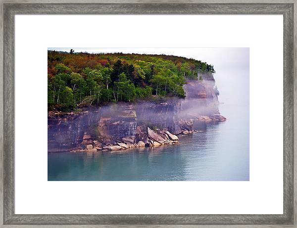 Cliff Fog Framed Print