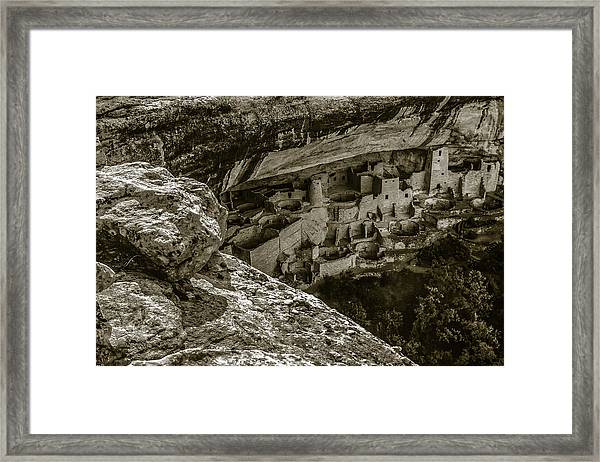 Cliff House Sepia Framed Print