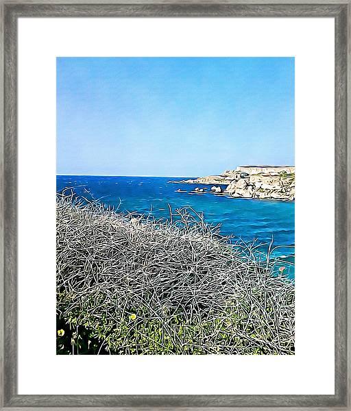 Cliff  Framed Print