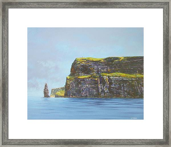 Cliffs Of Moher From The Sea Framed Print by Eamon Doyle