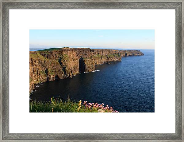 Cliffs Of Moher In Evening Light Framed Print