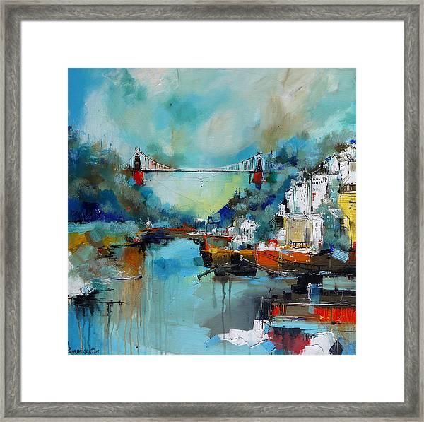 Clifton Suspension Bridge Bristol England Framed Print