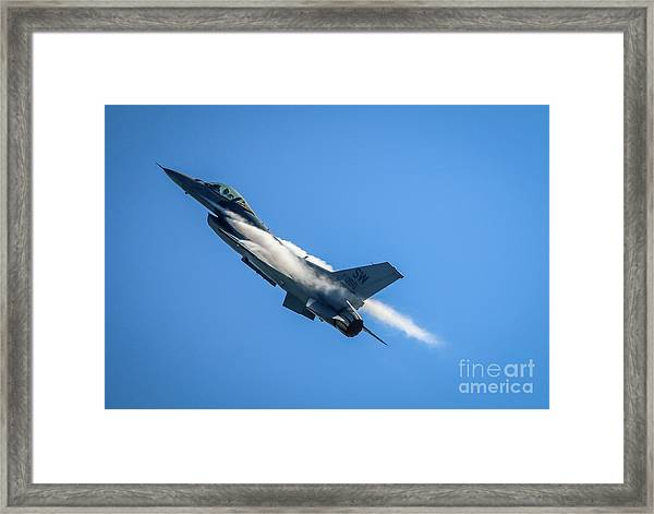 Framed Print featuring the photograph Climbing Falcon by Tom Claud
