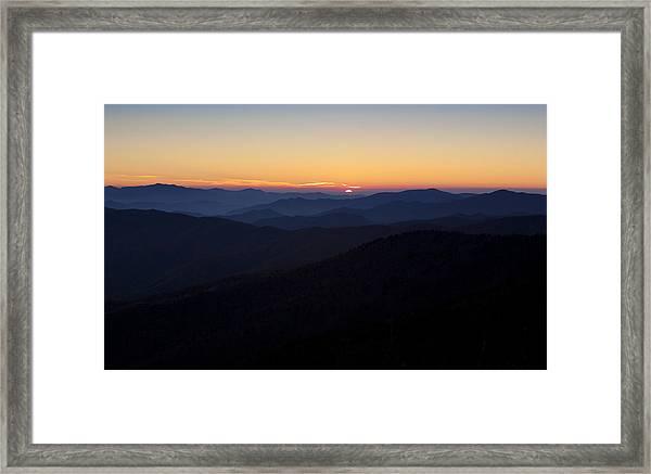 Clingmans Dome Sunset Framed Print