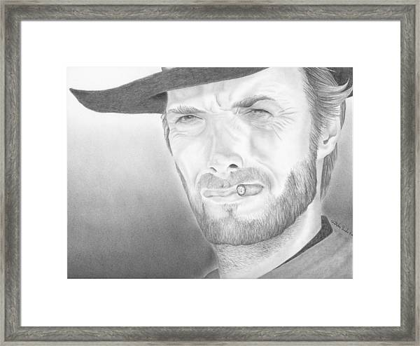 Clint Framed Print by Christopher Brooks