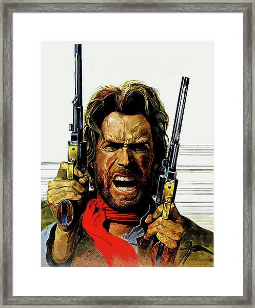 Framed Print featuring the mixed media Clint Eastwood As Josey Wales by David Dehner