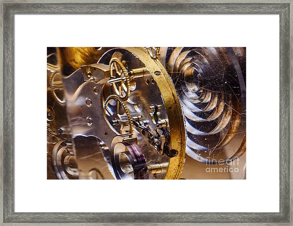 Clock Gears Framed Print