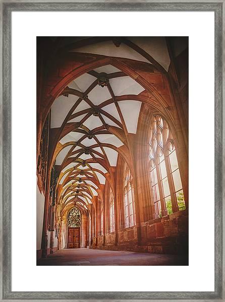 Cloisters Of Basel Munster Switzerland  Framed Print