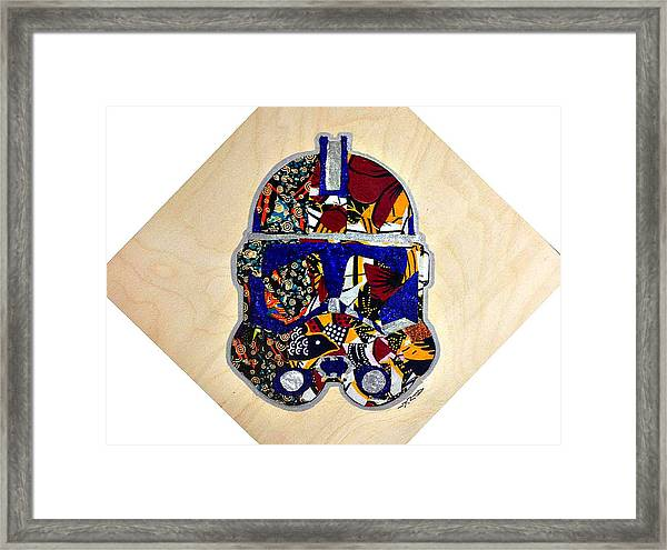 Clone Trooper Star Wars Afrofuturist Framed Print