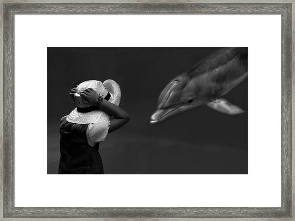 Close Encounter ... Framed Print