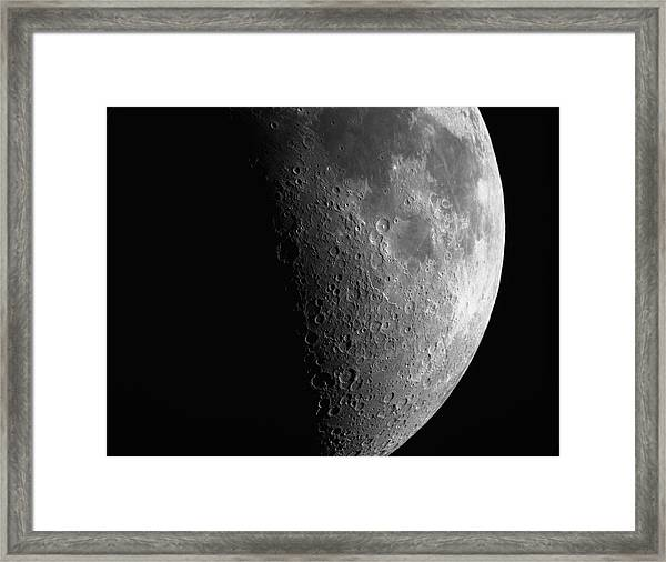 Close-up Of Moon Framed Print