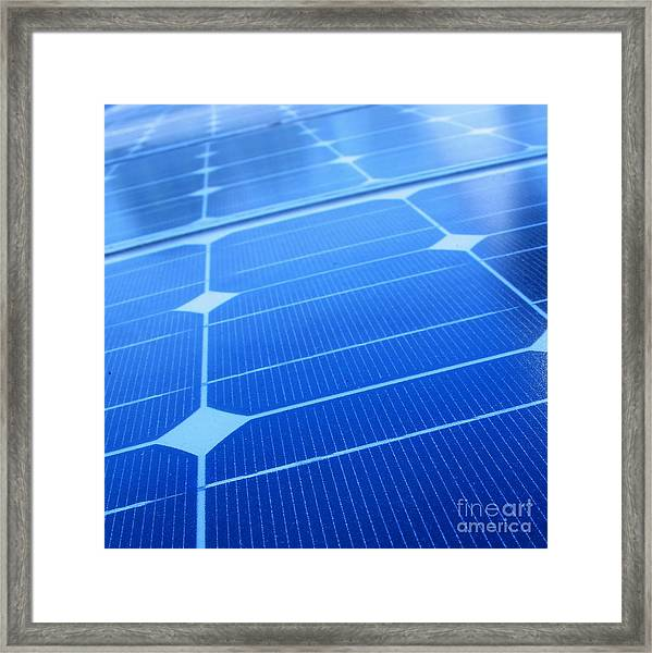 Closeup Of Solar Panels Framed Print