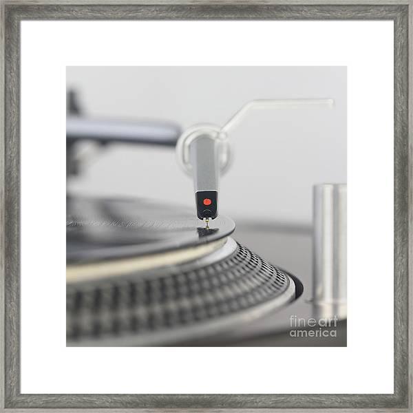 Closeup Of The Legendary Technics Sl 1200 Mk2 Turntable Framed Print