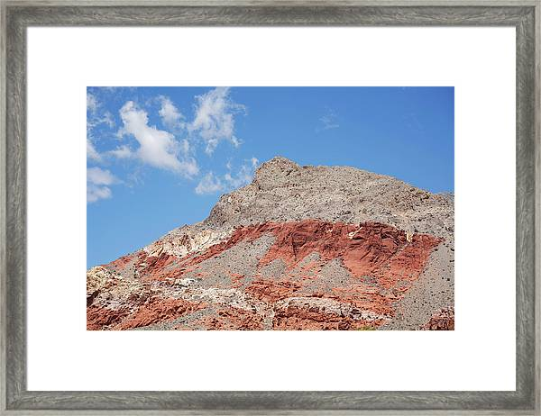 Cloud And Red Rock Canyon Framed Print
