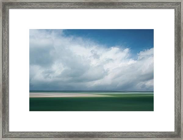 Cloud Bank Over Chatham Framed Print