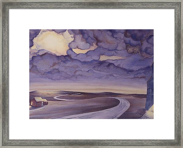 Framed Print featuring the painting Cloud Break On The Northern Plains I by Scott Kirby