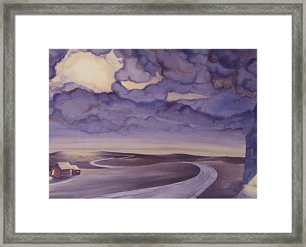 Cloud Break On The Northern Plains I Framed Print
